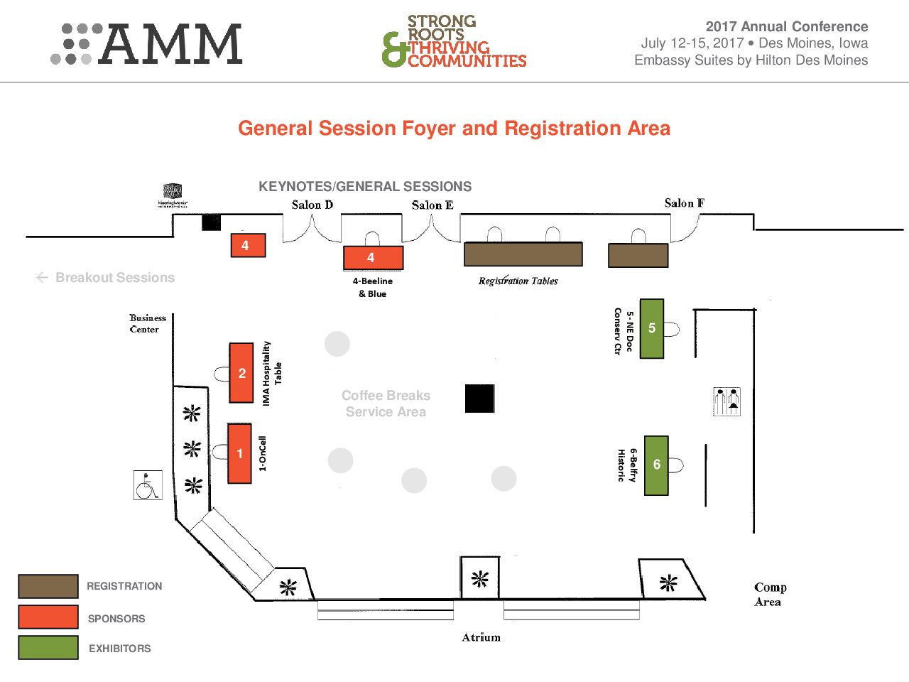 Exhibitor and resource hall floor plan amm conference - Plan floor design ...